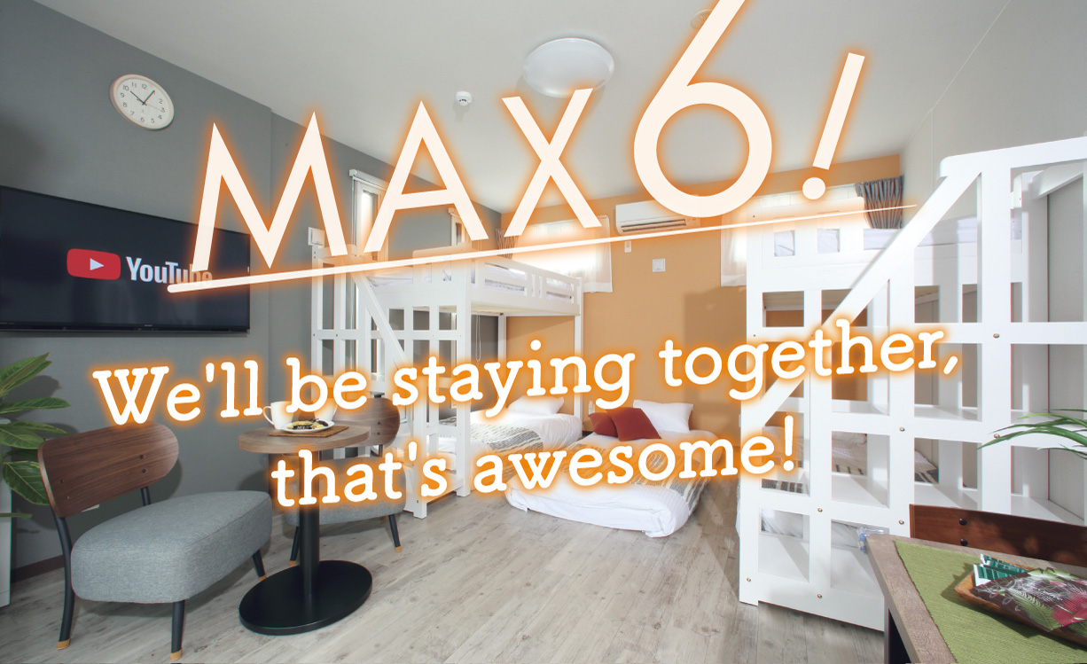 We'll be staying together, that's awesome!